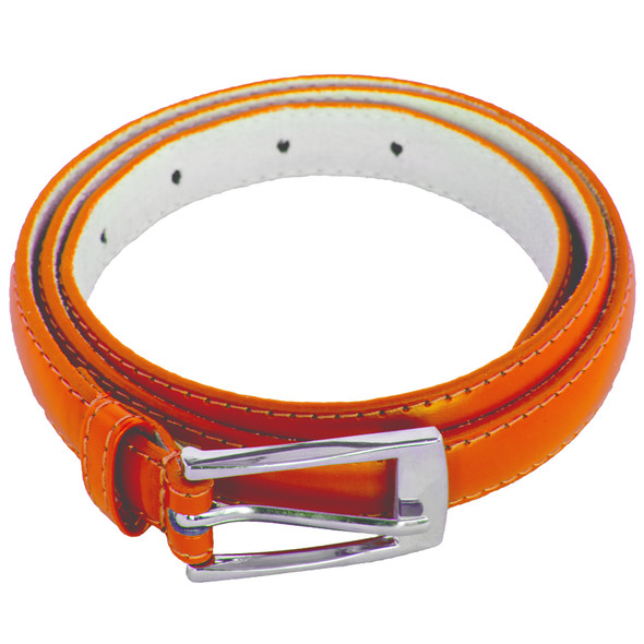 Orange Skinny Belt with Rectangle Buckle 2800-2803
