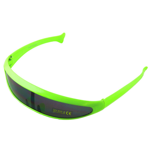 Retro Sunglasses 80's Neon Green 1003