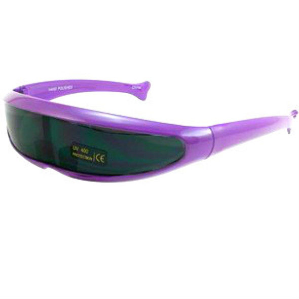 Retro Sunglasses 80's Neon Purple 1004