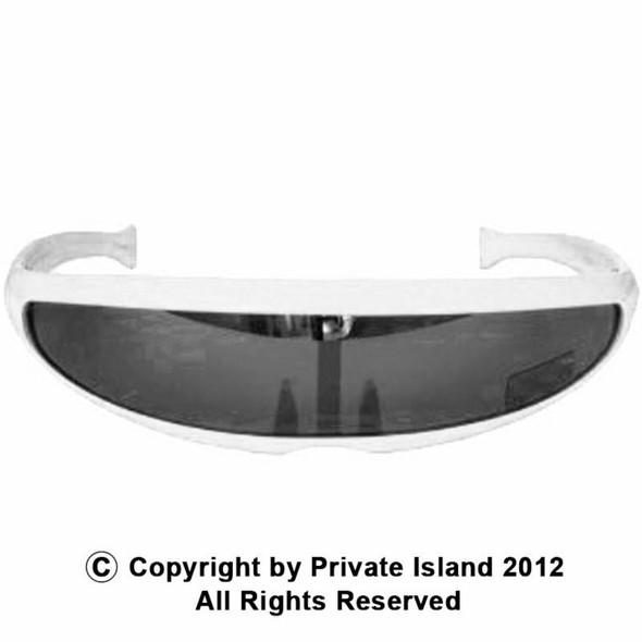 White Futuristic Trekkie Sunglasses 1006