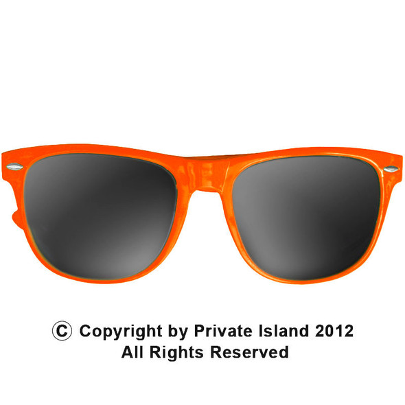 Orange Sunglasses |  Iconic 80's Style |  12 PACK Adult Size 1053