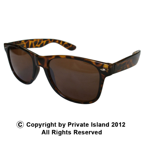 Brown Sunglasses | Iconic 80's Style | Adult Size 1060