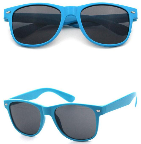 Baby Blue Sunglasses | Iconic 80's Style | 12 PACK  Adult Size 1075
