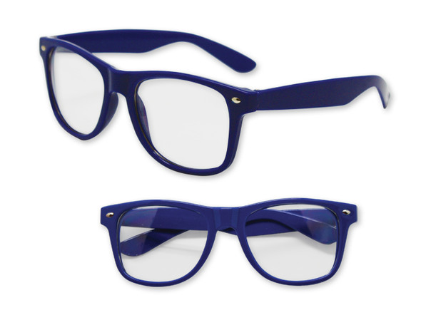 Blue Clear Lens | Iconic 80's Style | 12 PACK  Adult Size Sunglasses 1082