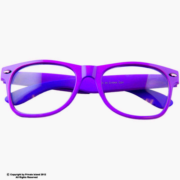 Purple Clear Lens Iconic 80's Style  12 PACK Adult Sunglasses 7076
