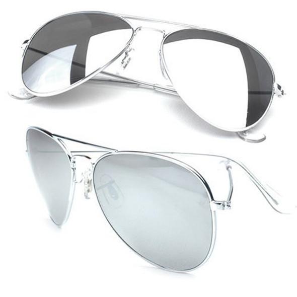 Aviator Sunglasses Silver Frame/Silver Mirror Lens1104