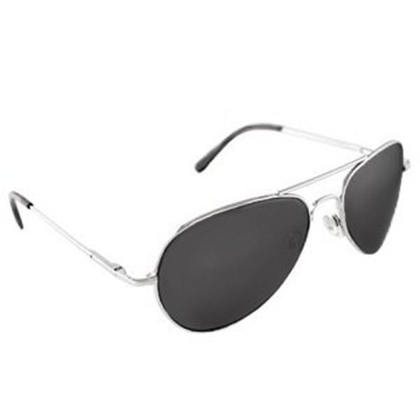 Retro Sunglasses Silver Smoke Frame Police Glasses 1108
