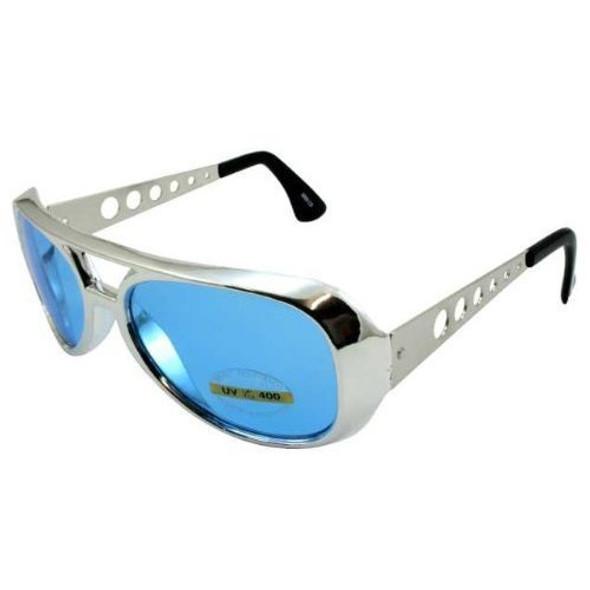 Blue RockStar Elvis Style Sunglasses 1131