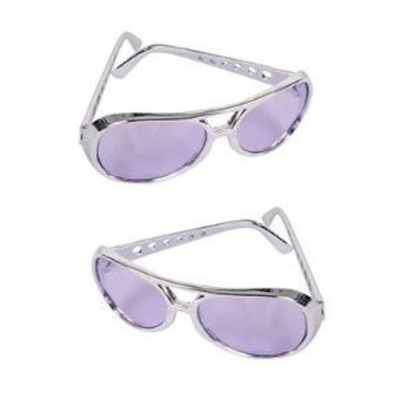 Elvis Style RockStar Sunglasses Purple 12 PACK 1134D