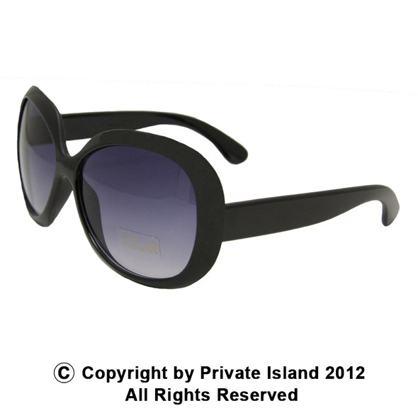 Black Jackie Oversized Sunglasses 12 PACK 1138