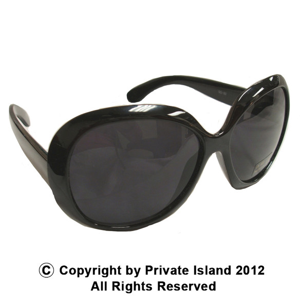 Black Jackie Oversized Sunglasses 12 PACK 1138