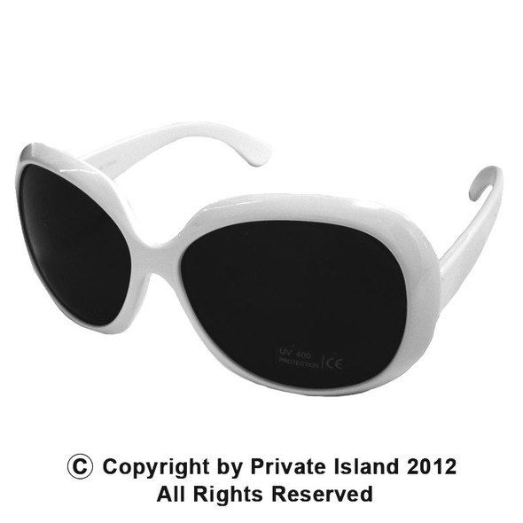 White Jackie Oversized Sunglasses 12 PACK 1139