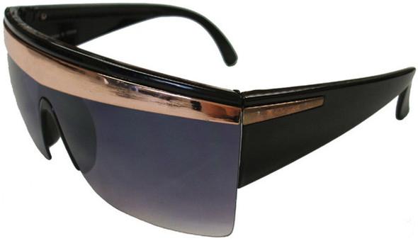 Black with Gold Stripe Lady Diva Sunglasses 1140