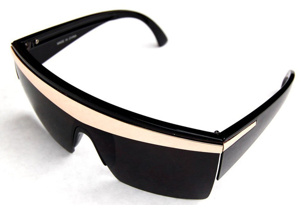 Black with Silver Stripe Lady Diva Sunglasses 1141