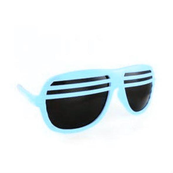Half Shutter Shades Sunglasses Light Blue UV 400 1152