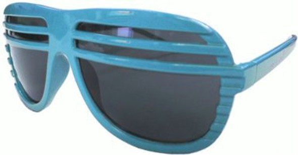 Half Shutter Shades Sunglasses Light Blue 1152