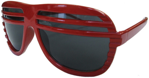 Red Half Shutter Shades Sunglasses 1154