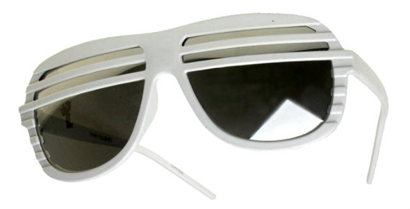 White Half Shutter Shades Sunglasses 1155