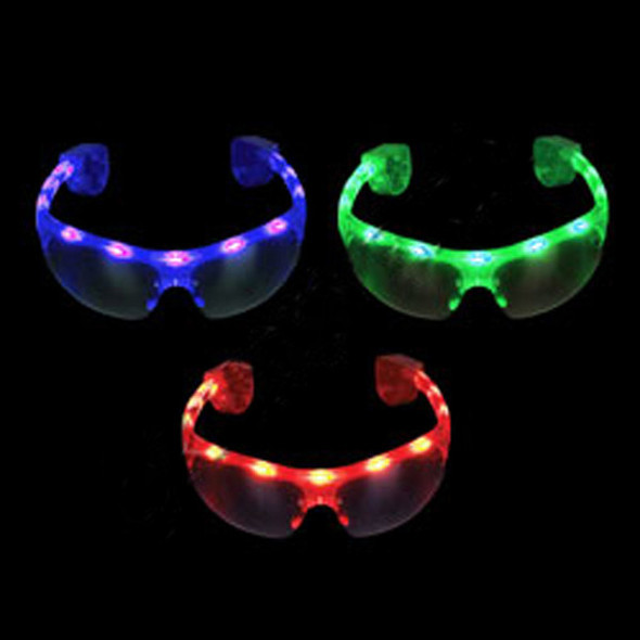 12 PACK LED Dark Lens Aviator Style Mix Colors 7101A