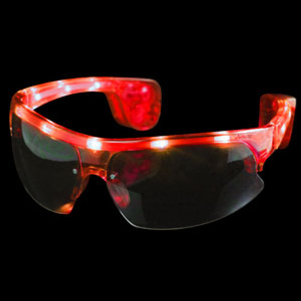 Red Rave LED LIGHT UP Aviator Style Sunglasses 7101