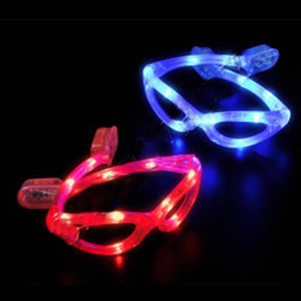 Wrap Around Glasses LED Mix Colors 12 PACK 7104A