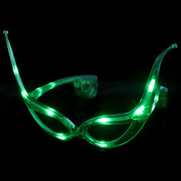 Green Rave LED Cat Eye Sunglasses 7107