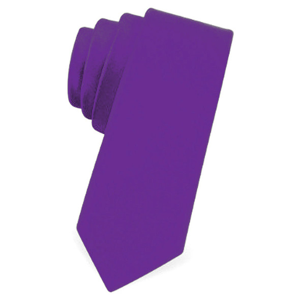 "Purple Satin Skinny Narrow Tie 2.25"" Wide Standard  1275"