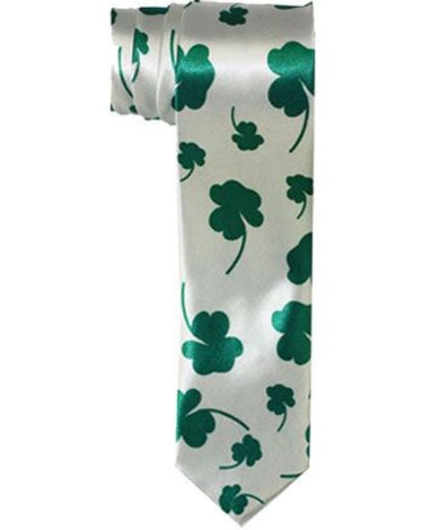 St Patricks Irish Shamrock Green Tie 6807