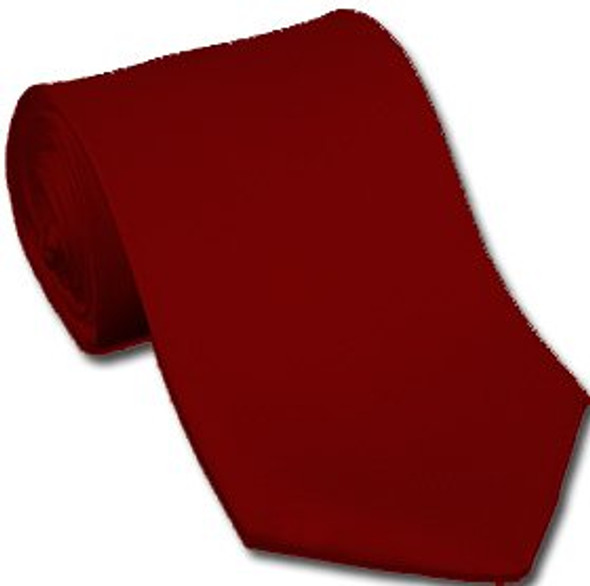 "Burgundy 3.75"" Wide Standard Satin Tie 6816"