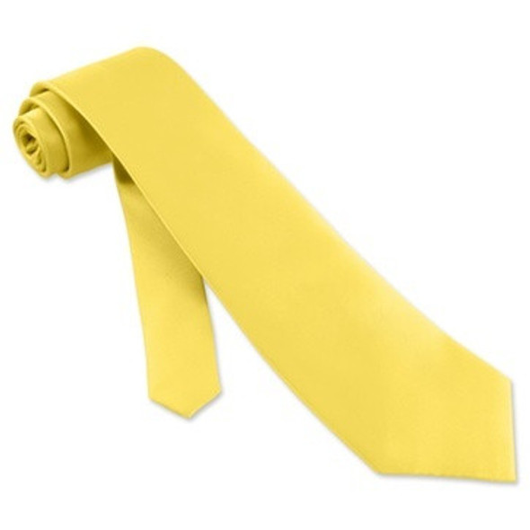 "Satin Tie Yellow 3.75"" Wide Standard  6831"