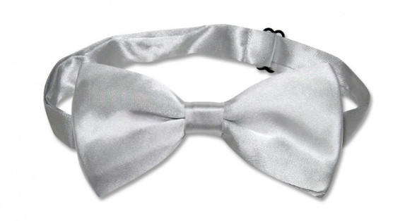 Satin Bow Tie Men's Silver 6833