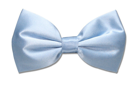 Satin Bow Tie Sky Blue Men's  6834
