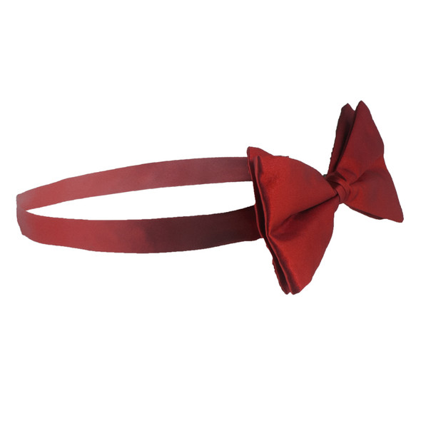 Satin Bow Tie Men's Burgundy 6841