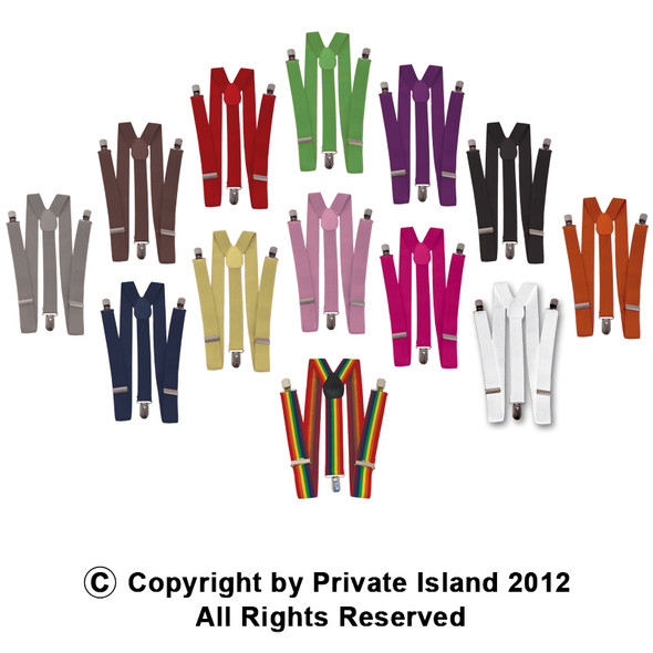 Colorful Suspenders | Holdup Suspenders | Mixed Colors 12 PACK 1291A