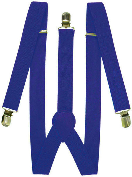Royal Blue Suspenders Elastic Clip On 1292