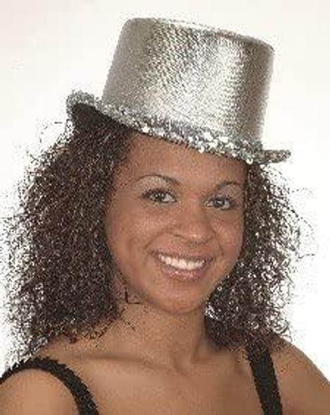 Silver Top Hats Wholesale | Silver Top Hats Bulk | 1354