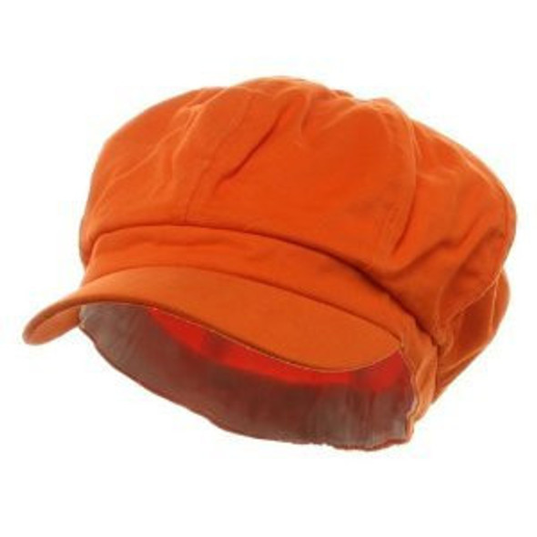 Newsboy Cap Orange Adult 1405