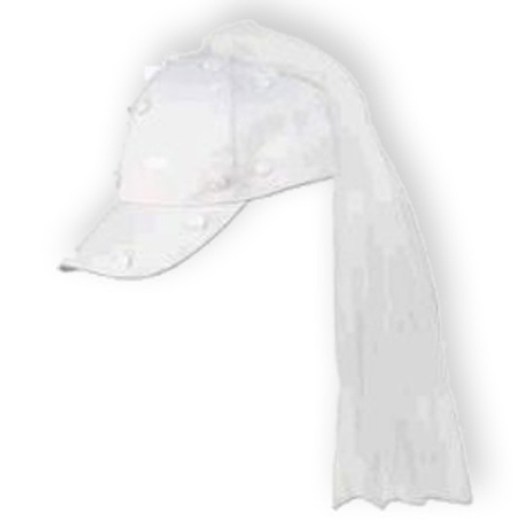 Bride Baseball Hat with Veil 1415