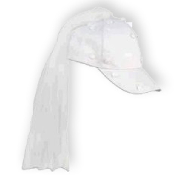 Bride Baseball Hat with Veil 1415