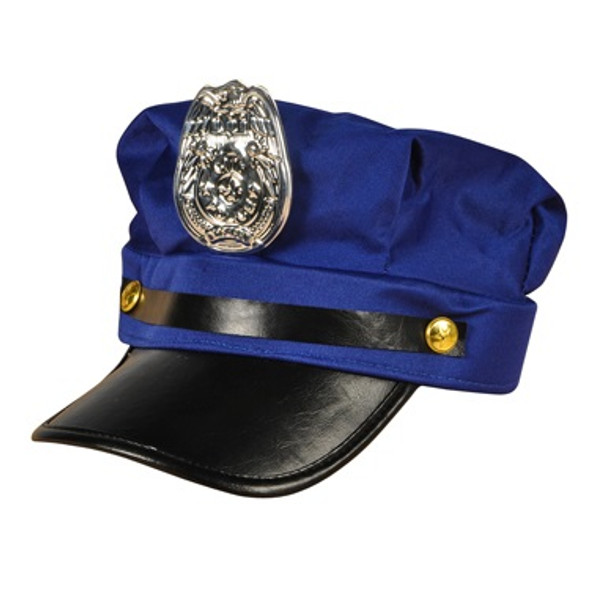 Police Hat Wholesale | with Badge Blue Adult 1425