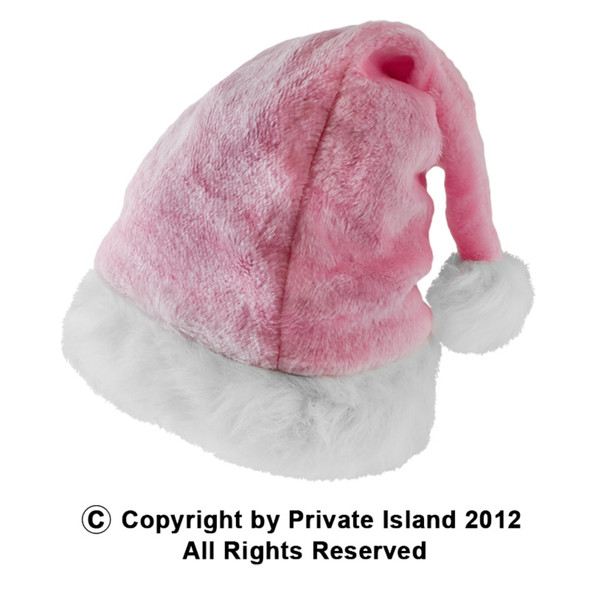 Plush Santa Hat Pink 12 PACK 1438