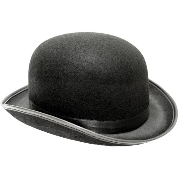 "Derby Hat Bulk | Black Felt 22.5"" Standard Adult Size 1496"