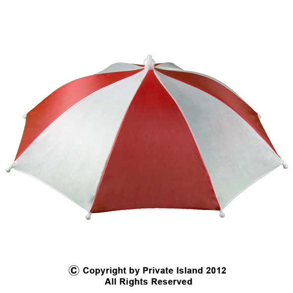 Umbrella Hat Red and White 1518