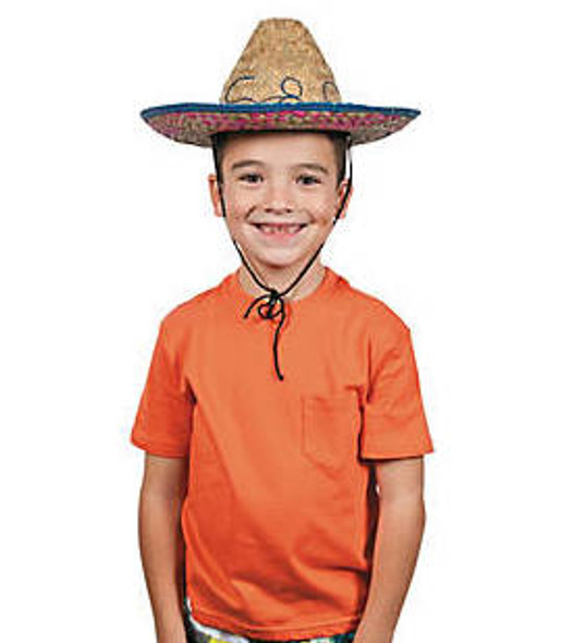 Cinco De Mayo Party Favors | Cinco De Mayo Hats | Child Sombrero 12 PACK
