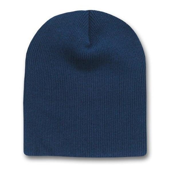 Short Beanie Hat Navy Blue 5734