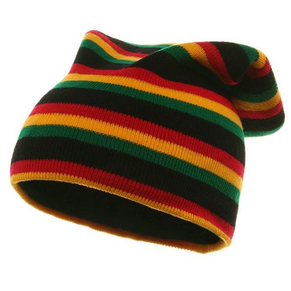 Rasta Long Knit Beanie Hat 5749