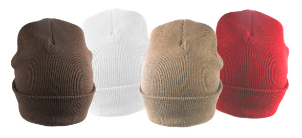 12 PACK Long Beanie Hats Mixed Colors 5750