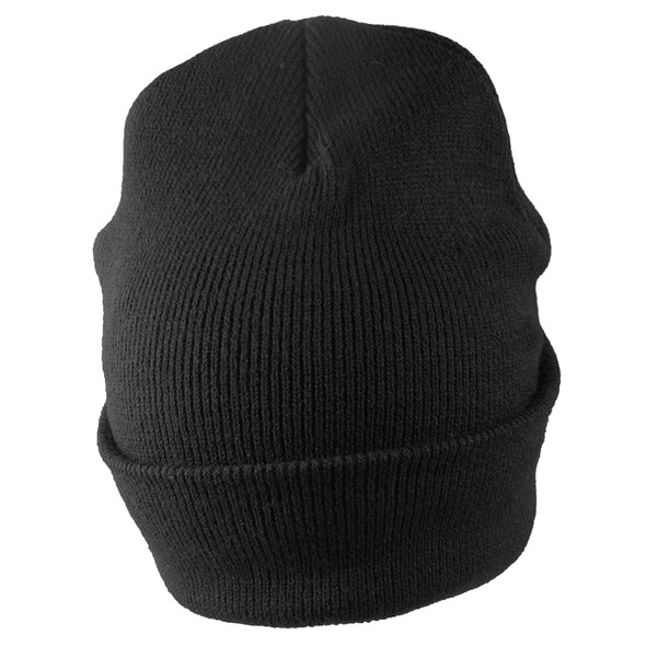 Long Beanie Hat Black 5751