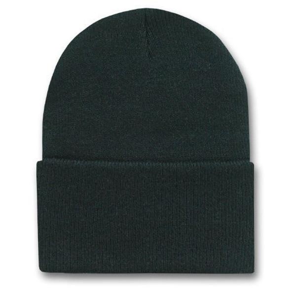 Long Beanie Hat Black 5751