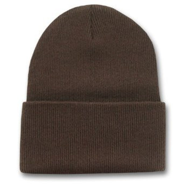 Long Beanie Hat Brown 5752